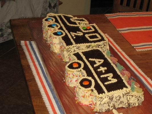 Dvouletý dort odzadu